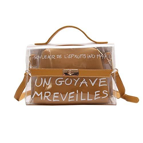Le Sac Main à à Messenger Serrure Sac Femmes bandoulière Sac Bag Mère Sac Sacs Boucle Transparent Couleur Petit Jaune nFHt84Tx