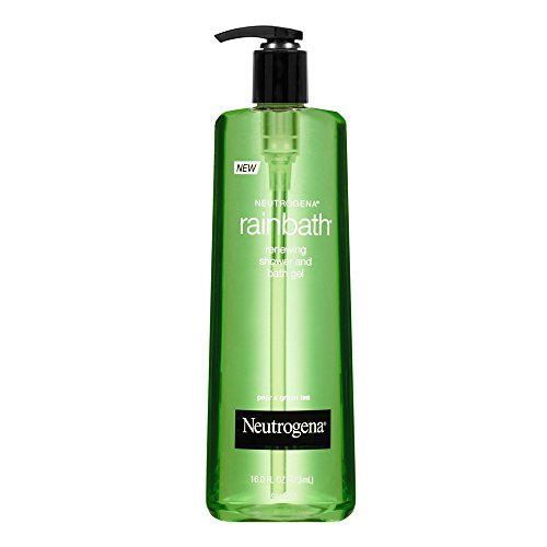 Neutrogena Rainbath Renewing Shower And Bath Gel, Moisturizing Body Wash and Shaving Gel with Clean Rinsing Lather, Pear & Green Tea Scent, 16 fl. oz