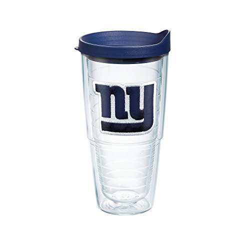 Tervis 1039084 NFL New York Giants Primary Logo Tumbler with Emblem and Navy Lid 24oz, Clear (Giants New Mug York)