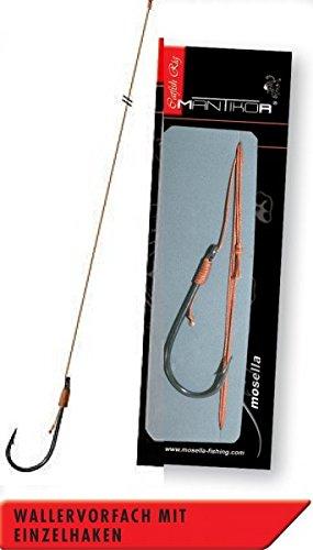 Angeln auf Wels Wallermontage Welsvorfach 4//0 Wallerhaken Mantikor Wallervorfach 120cm mit Einzelhaken Gr Welsangeln