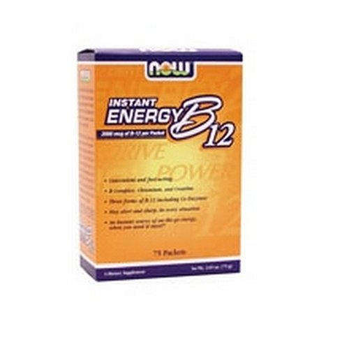 Now Foods Instant Energy B-12, 75 Packets (Pack of