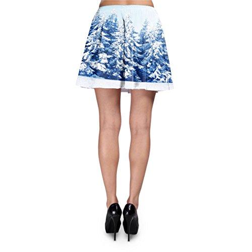 Winter Sun Landscape Skater Skirt Rock XS-3XL