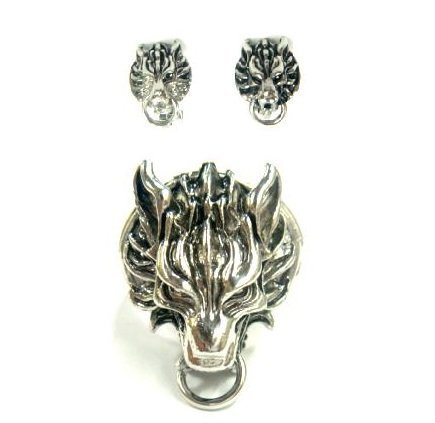 [FF7AC cloud set of 2] FF7 Cloud Cloudy Wolf ring motif earrings FINAL FANTASY VII ADVENT CHILDREN (Final Fantasy ADVENT CHILDREN) fan goods, items costume accessory accessories cosplay props (japan (Final Fantasy 7 Costumes)
