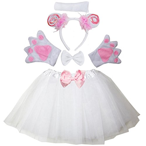 Kirei Sui Kids Sheep Costume Tutu Set White]()