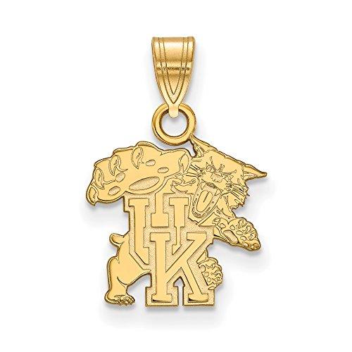 Kentucky Small (1/2 Inch) Pendant (10k Yellow Gold) by LogoArt