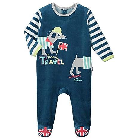 b72b02f303382 Pyjama bébé velours Funny London - Taille - 3 mois (62 cm)  Amazon ...
