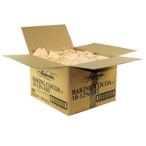 Ambrosia 10/12 Natural Low Fat Cocoa Powder, 5 Pound -- 6 per case.
