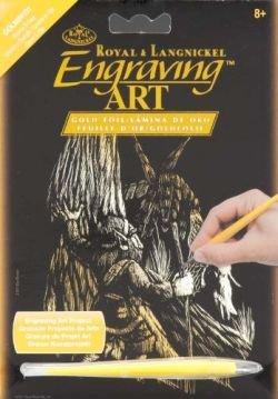 Mini Gold Foil Engraving Art Gnome/Fairy