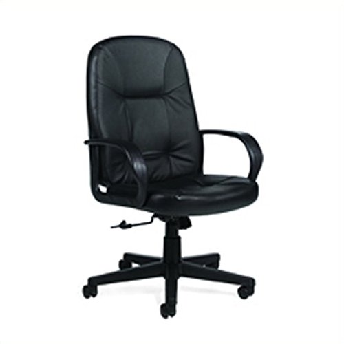 Global Arno™ Leather Executive High-Back Swivel/Tilt Chair (Arno Leather)