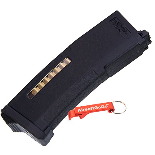 PTS 150rds Enhanced Polymer Magazine for Systema PTW Airsoft M4 Series (Black) - AirsoftGoGo Keychain Included