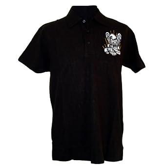 84c9573252 Ed Hardy MOWEAG0225 Men s Embroidered Patch Polo  Eagle LA  - S - White (