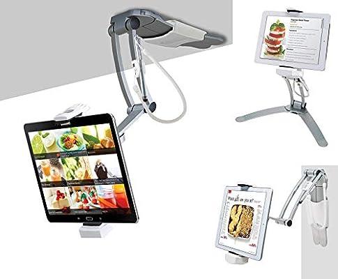 CTA Digital Pad-KMS Stand 2 en 1 de Cocina con Soporte de Pared y ...