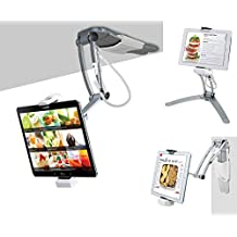 2-in-1 Kitchen Desktop Tablet Stand Wall Mount iPad Holder with Stylus for 7-13 Inch Tablets/iPad 2018/iPad Pro 12.9/9.7/Air/mini, Galaxy Tab S3 9.7, Surface Pro 4/5/6, Nintendo Switch