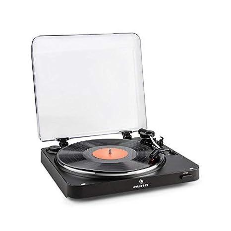 auna TT-30 BT Tocadiscos (emisor bluetooth, reproductor de discos ...
