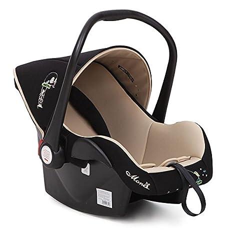MONI LB321 Kindersitz Babytravel Gruppe 0+ (0-13 kg) LB321 mit Sonnendach und Fuß schutz, beige Moni Trade Ltd.