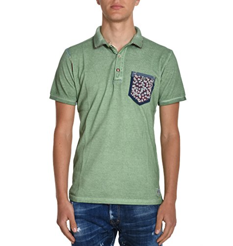 Bob Herren RICKYR180VERDE Grün Baumwolle Poloshirt