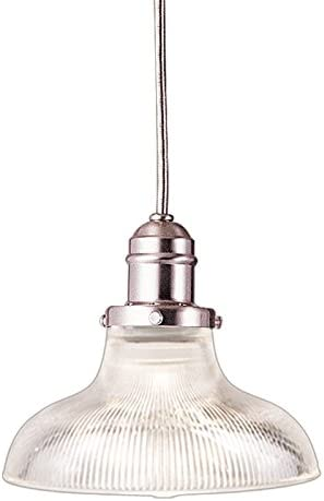 Vintage Collection 1-Light Pendant – Satin Nickel Finish with Clear Glass Shade