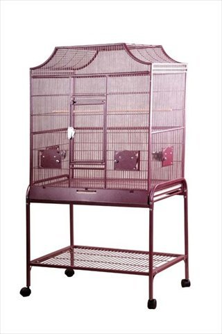 A&E Cage Co 32' x 21' x 61' Elegant Flight Cage, Burgundy