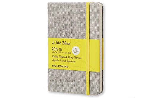 Moleskine 2015-2016 Le Petit Prince Limited Edition Weekly Notebook, 18M, Pocket, Hard Cover
