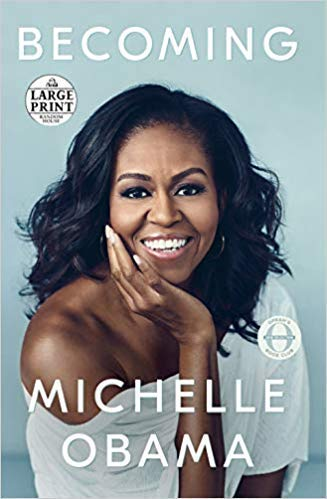 Book cover from Becoming by Michelle Obama