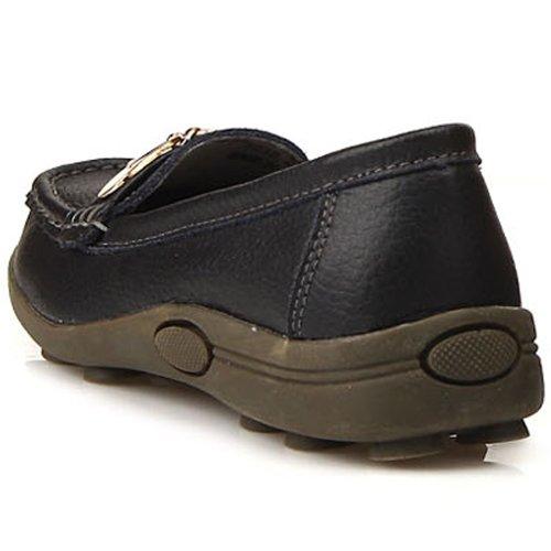 Nya Kvinna Komfort Loafers Halka På Läderskor Balck