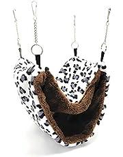 RatsLive® Gnagare hängmatta / liten djursäng för råttor, hamstrar, chinchillas och ekorre 28 × 20 cm (vit/svart)