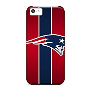 Shock Absorbent Hard Phone Cover For Apple Iphone 5c With Support Your Personal Customized Trendy New England Patriots Pattern ChristopherWalsh