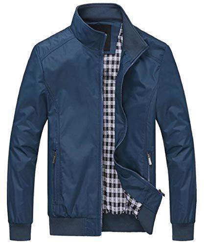 Degli Stare Uomini Leggera Giacca Vento Gocgt Giacca Collare Militare Cappotti A Blu Cotone and4wx1d