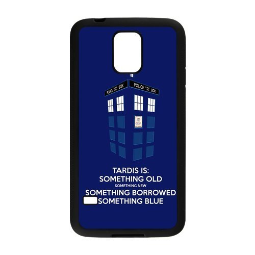 Generic Simple Tardis Police Call Box Doctor Who Case Cover for Samsung Galaxy S5