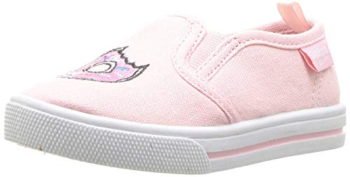 OshKosh B'Gosh Donuts Girl's Embroidered Slip-On Loafer Flat, Pink, 10 M US ()