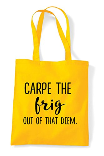 Of Tote Frig Carpe Statement Out Yellow Shopper That Diem Bag The 50qqrwt