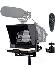 Pergear Q1 Mini Portable Adjustable Teleprompter for Smartphone iPhone DSLR Recording, with Remote Control & Tripod Ball Head (Pergear Q1)