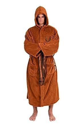 Star Wars Mens Fleece Graphic Long Robe Brown O/S