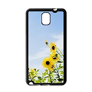 Fashion Custom Sunflower Printed Durable Protection Hard Cover Case For Samsung Galaxy Note 3 III TPU
