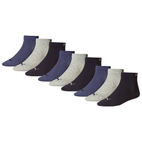 Puma 251015 - Calcetines de deporte para hombre Azul - navy / grey / nightshadow blue