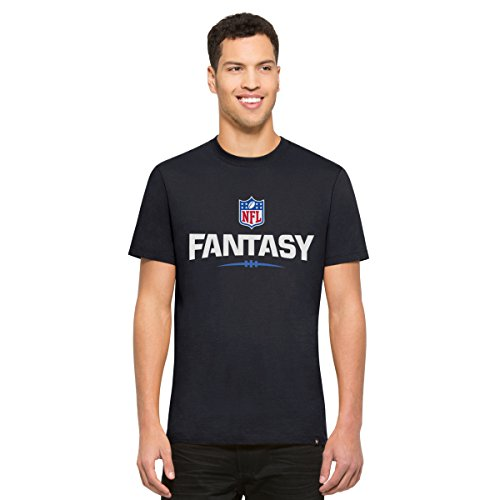 '47 NFL Fantasy Football Men's Crosstown Flanker MVP Tee, Medium, Fall Navy-Champion Mvp Draft