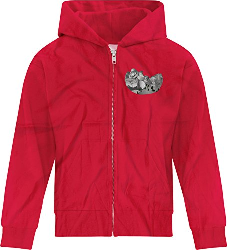 Price comparison product image BSW Youth Girls Mount Gamemore Gamer Zip Hoodie XL Red