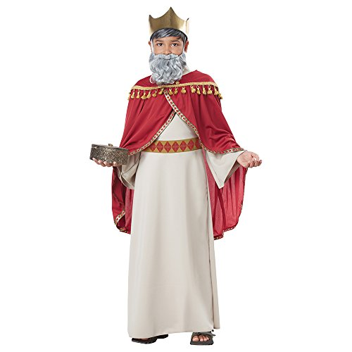 Melchior Wise Man Costume Small/Medium, Red