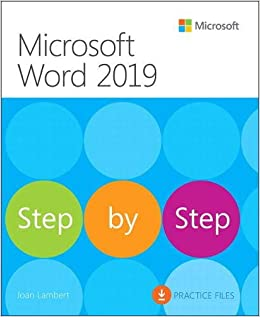 amazon microsoft word 2019 step by step joan lambert word