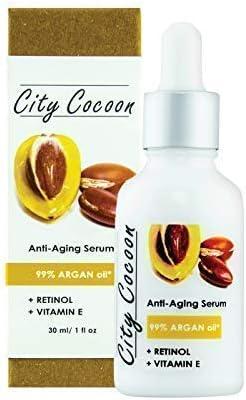 Sérum Anti-edad | Anti-arrugas | 99% Aceite de Argán Organico | RETINOL Vitamina E | 99% Naturales | Vegano |30ml
