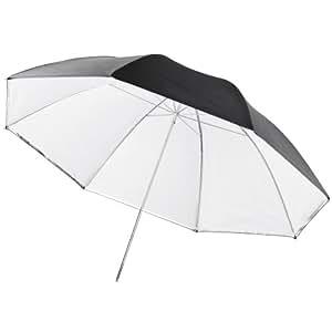Walimex Pro - Paraguas 2 en 1 de 109 cm (transparente y réflex), blanco y negro