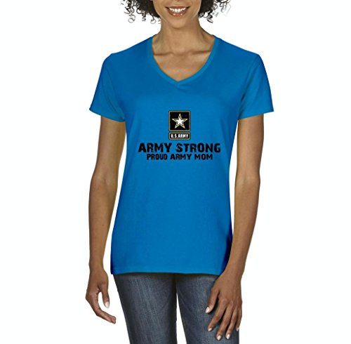 The Hobbit Costume Design (Xekia U.S. Army Star Army Strong Proud Army Mom Fashion People Couples Best Friend Gifts Women's V-Neck T-Shirt Tee Clothes Large Sapphire Blue)