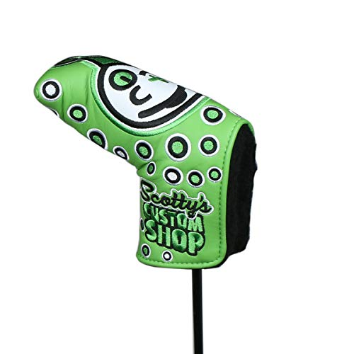 HAIYUE Joker Golf Head Cover Blade Putter Club Headcovers PU Leather Embroidered Fit All Brands Gift Accessories for Men Women Green