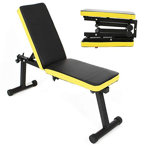 Dland Folding Dumbbell Bench Height Adjustable Incline Exercise Bench 660 lbs Weight Capacity, Multi-Functional Home Gym Strength Training Fitness Workout Station,BHUS-PSBB003