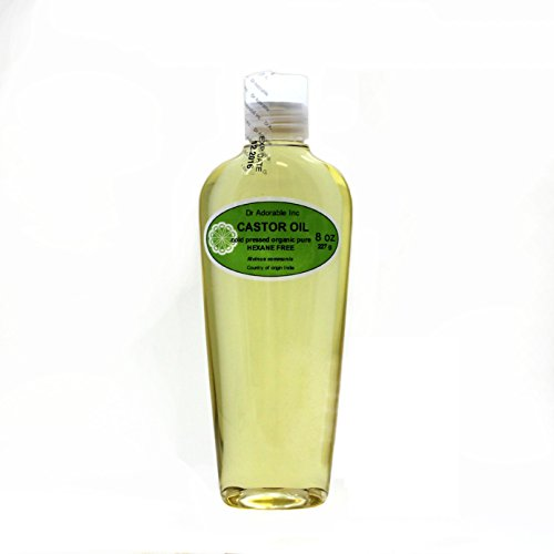 Castor Oil Pure Organic Cold Pressed Virgin by Dr.Adorable 8 Oz