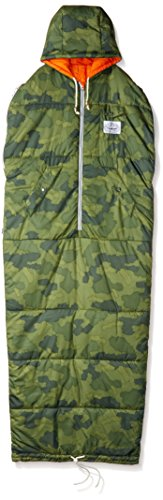 Poler Men's The Classic Napsack Wearable Sleeping Bag, Green Camo, Medium