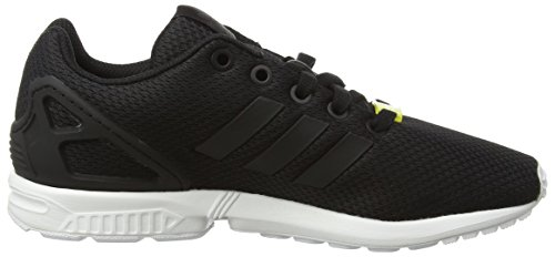 adidas Unisex-Kinder ZX Flux J Low-Top Schwarz (Black/Black/Ftwr White)