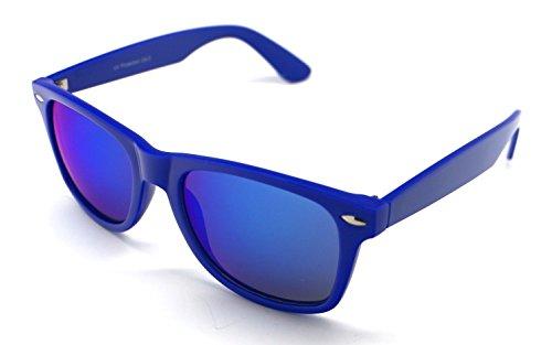Wayfarer Espejo Azul Sunglasses Mujer de Gafas Hombre Sol YROqvA7A