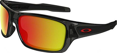 Oakley Boys' Turbine Xs Non-Polarized Iridium Rectangular Sunglasses, Grey Smoke, 57 mm by Oakley
