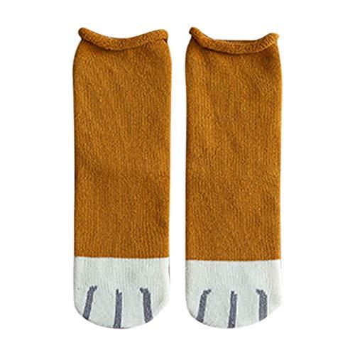 100 Floors Season Halloween 3 (Shan-S Stockings Warm Socks for Women/Girls, Winter Fashion Lovely Cat Claw Coral Thickening Fuzzy Soft Cozy Middle Stockings Floor Socks Cartoon Slipper)